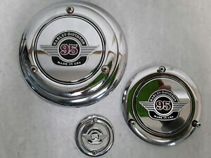 HARLEY-EVO-95-95th-Anniversary-Air-Cleaner-Cover-Derby-Cover-amp-Timer-Cover