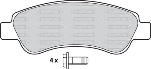 1100//1500KG OEM SPEC REAR DISCS AND PADS 280mm FOR FIAT DUCATO 2.3 TD 2006-11