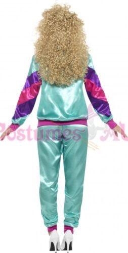 80s Height Of Fashion Purple Shell Suit Tracksuit 1980s Womens Ladies Costume