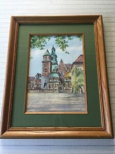 "Vintage Colored Etching Print, Signed, Framed, 9"" x 13"" (Image), 16 1/4"" x 20"""