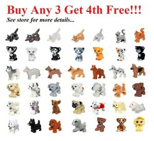 NEW-Lego-PICK-YOUR-CATS-amp-DOGS-ANIMAL-Lot-Friends-Pets-Ranch-Outdoor-Town-City