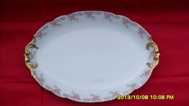 """D&Co France""   ""L. Bernardaud & Co Limoges"" large serving plate 16.25 by 10.75"