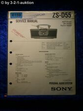 Sony Service Manual ZS D55 Audio System (#6159)