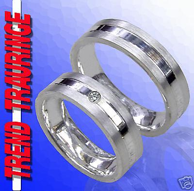 Effizient Trauringe Verlobungsringe Eheringe Silber &gravur T32-1