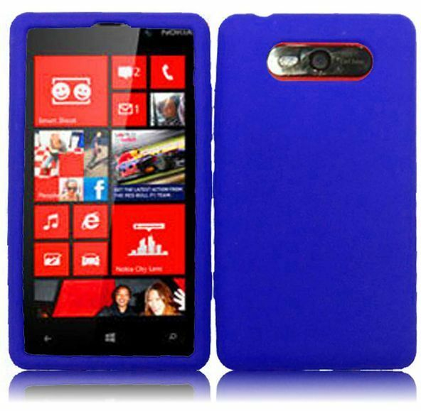 best service 65134 64fc4 for Nokia LUMIA 820 Rubber Silicone Soft GEL Skin Case Phone Cover Dark Blue