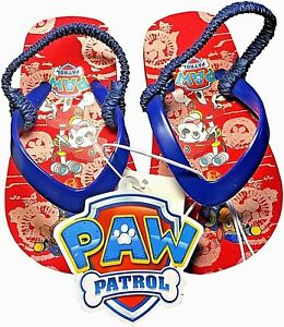 652008580786d NWT-Paw Patrol Toddler Boys Girls Flip Flops Thongs Sandals-Red Navy ...