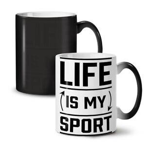 Life Is Sport Quote Funny NEW Colour Changing Tea Coffee Mug 11 oz | Wellcoda
