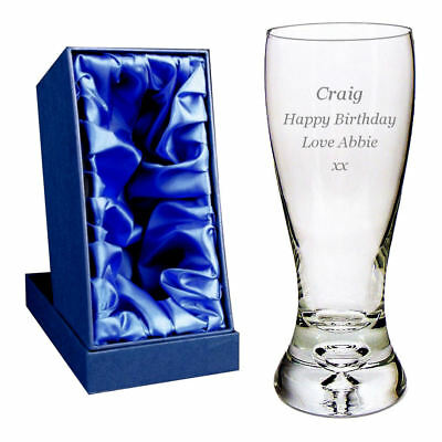 Personalised 1 Pint Tall Carling Branded Lager Glass Engraved Birthday Gift Enter Your Own Custom Text
