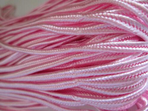 5 metros plana cordel satén rosa 3mm elegante cenefa punta ap 97
