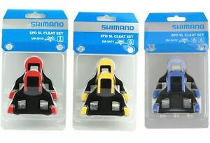 Shimano-SM-SH10-11-12-Cleat-set-2-6-degree-Float-SPD-SL-Road-Bike-Pedal-Cleats