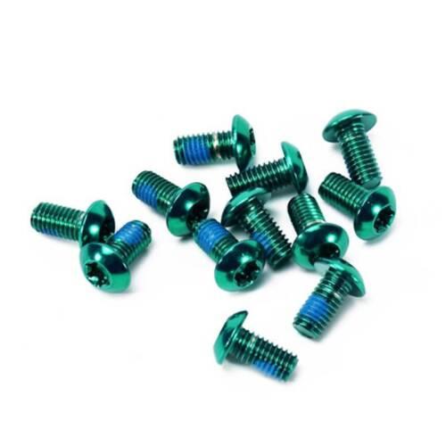 M5 x10mm Schraube Torx T25 Kopf Scheibenbremse Rotor Schraube Stahlmutter gefärb