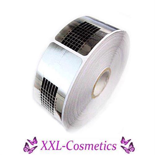 500 Modellier Schablonen für Gel / Acryl / Silber Square
