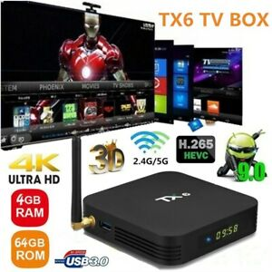 TX6 Android 9.0 TV BOX 4GB+32GB H6 Quad Core BT 4.1 WiFi 5G 4K 3D Media Player Featured