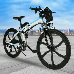 """Foldable 26"""" 36V 10.4AH 350W Electric Great Tire City E-Bike Beach Bicycle Ebike"""
