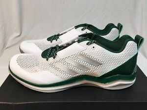 Men's Adidas Speed Trainer 3.0 - Q16553 - White/Dark Green - NIB - Size 17