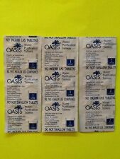 Lot of 30 Oasis Water Purification Tablets 17 mg Emergency Survival Prepper BOB