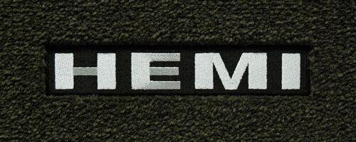 LLOYD MATS Velourtex™ FRONT FLOOR MATS 2011-18 Chrysler 300 AWD Silver HEMI Logo