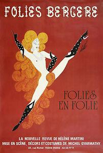 Retro FOLIES BERGERE PARIS ..Promotional Advertising Poster A1,A2,A3,A4 Sizes