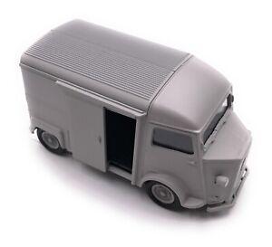 Citroen-Type-H-Modele-Fourgonette-a-Plateau-Camper-Gris-Auto-Masstab-1-3-4