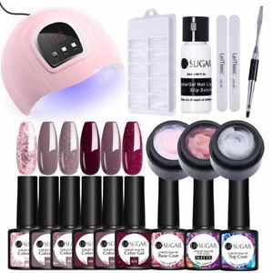 UR-SUGAR-Clear-Pink-Nail-Poly-UV-Gel-Set-54W-Nail-LED-Lamp-Gel-Nail-Polish-Kit