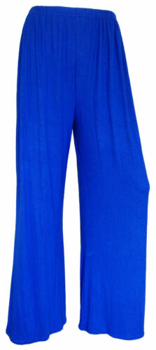 LADIES WOMENS FLORAL PRINT ELASTICATED PLAZZO TROUSERS  LOUNGE PANTS SIZE 8-26