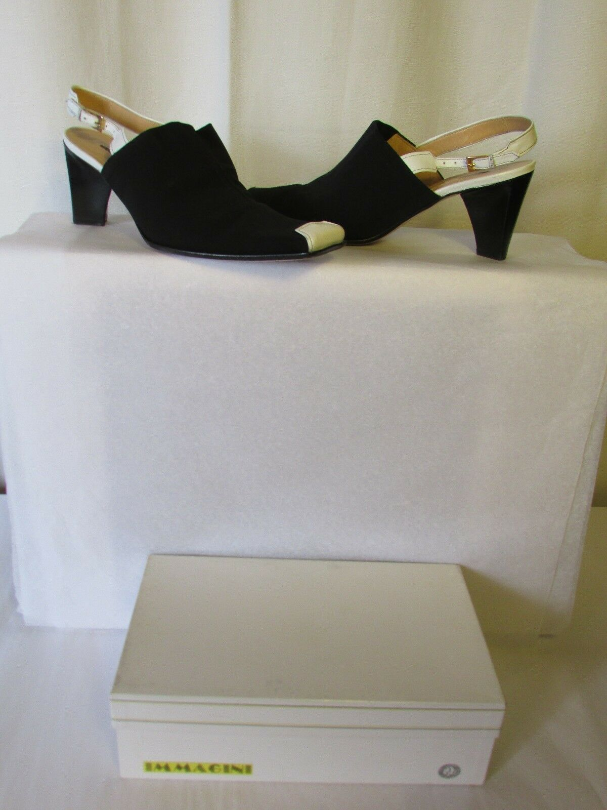 Court shoes Immagini Material Elastic Black & White Leather 41