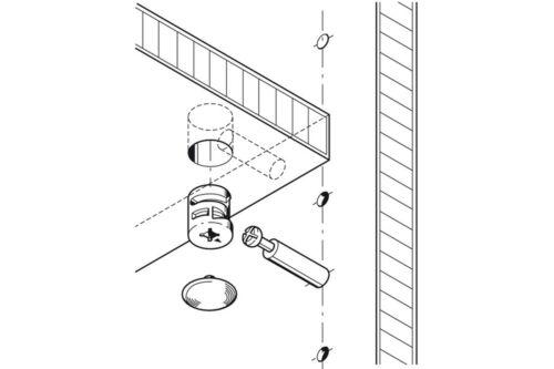 Exzenterverbinder Minifix 15 Verbindergehäuse Zinkdruckguss ohne Abdeckrand