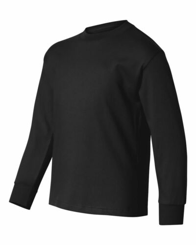 Hanes Tagless Youth Long Sleeve T-Shirt 5546 XS-XL 3 Colors