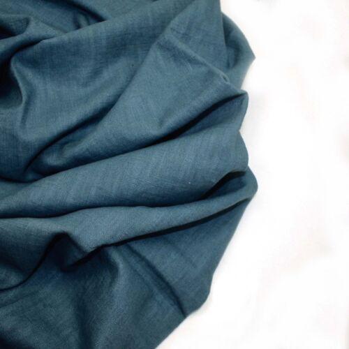H /& H Bio lavado 100/% Lino-Laguna 27-Confección Tela De Moda