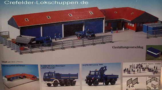 Kibri 8133 THW set, 2 vehículos, vehículo halle con edificios de oficinas, valla, nuevo embalaje original