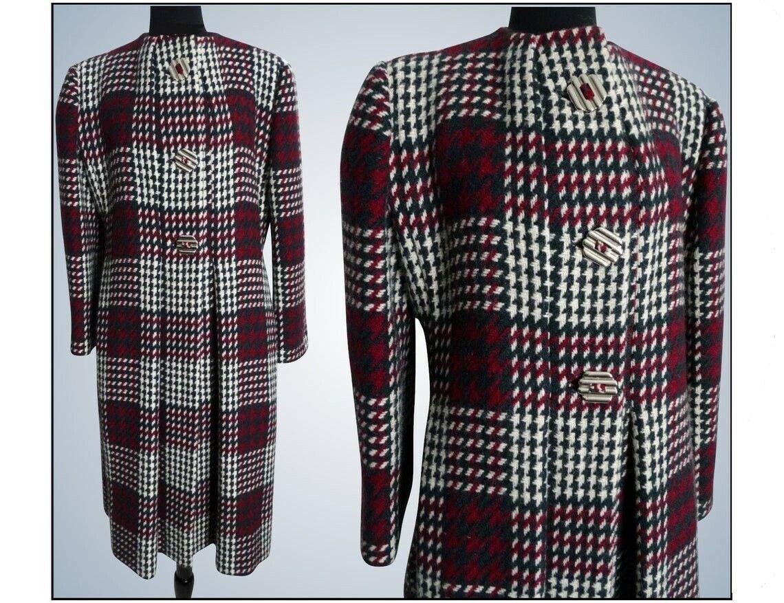 Vintage Pauline Trigere Coat   Designer Coat   Wi… - image 1