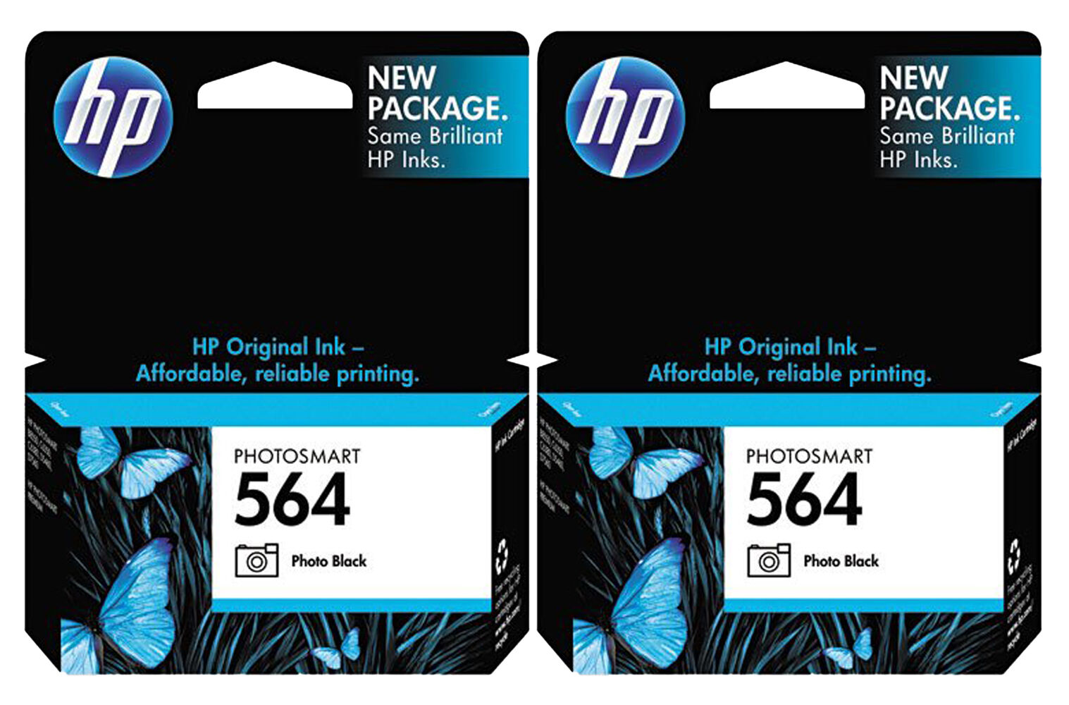 genuine new hp 564 cb317wn photo black ink cartridge no. Black Bedroom Furniture Sets. Home Design Ideas