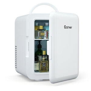 4 Liter Mini Fridge Portable Cooler Warmer Makeup Skincare Refrigerator White