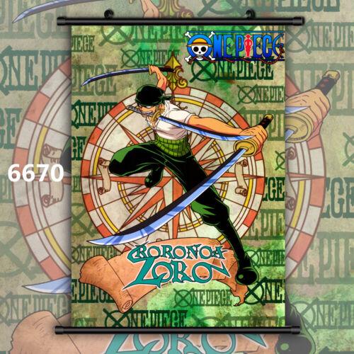 One Piece Roronoa Zoro Anime Manga Wallscroll Poster Kunstdrucke Bider Drucke