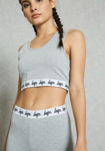 Hype Ladies Script Logo Bralet Crop Top Grey