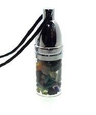 Angelic Reiki Crystal Gemstone Mojo Bottle Pendant