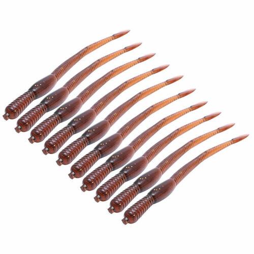 10X Earthworm False Lures Baits Ideal Soft Gear Tackle Lure Fishing T5E4