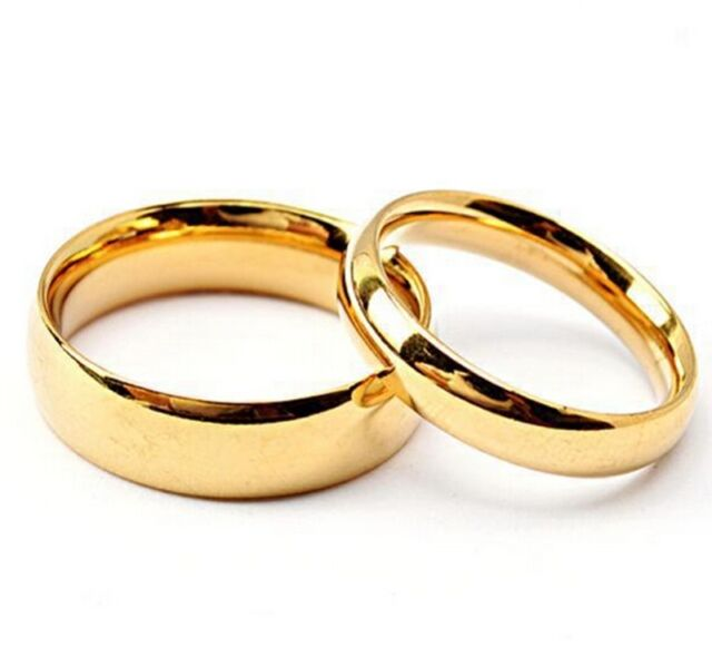 Men Women Unisex 4.5mm Width Band Plain Engagement Wedding Titanium Steel Ring