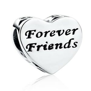 98a4b4529 Forever Friends Charm Bead Love Heart CZ Genuine Sterling Silver 925 ...