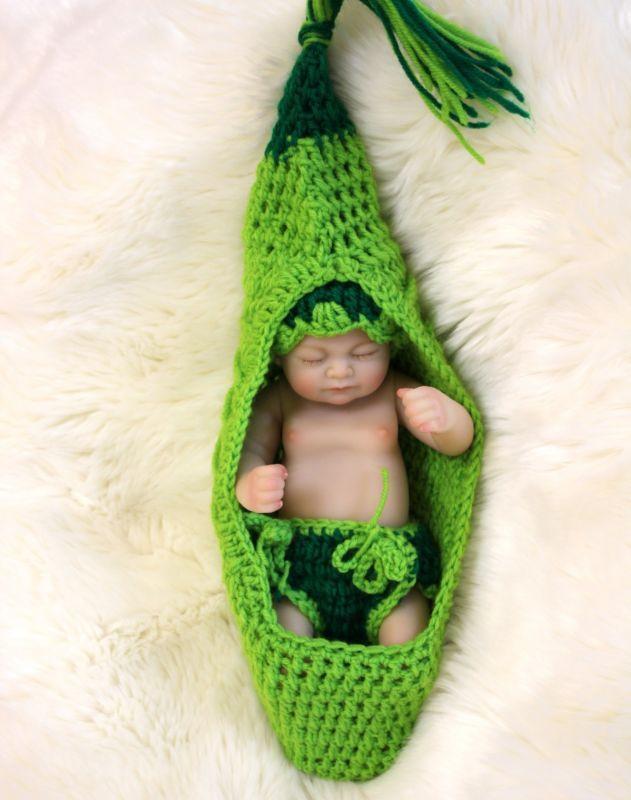 10  FULL Silicone Vinile Mini Corpo Bambole RINATO BABY GIRL A Pelo Neonato Natale