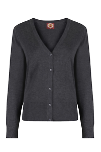 Pinders girlfit 100/% COTONE CARDIGAN-School Uniform Grigio//Blu Marino