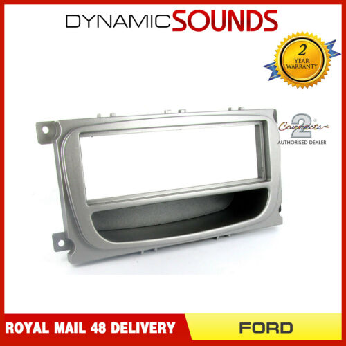 CT24FD26 Car CD Stereo Surround Trim Fascia Panel Silver for FORD