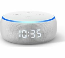 AMAZON Echo Dot with Clock (3rd Generation) - Sandstone - Currys