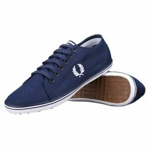 Details about Fred Perry Kingston Twill Plimsolls Trainers Pumps Casual  Shoes B6259-C88