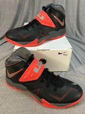649ac1c6295 2013 NIKE Zoom Soldier VII Lebron Black Crimson Red Basketball 599264-003  SZ 11