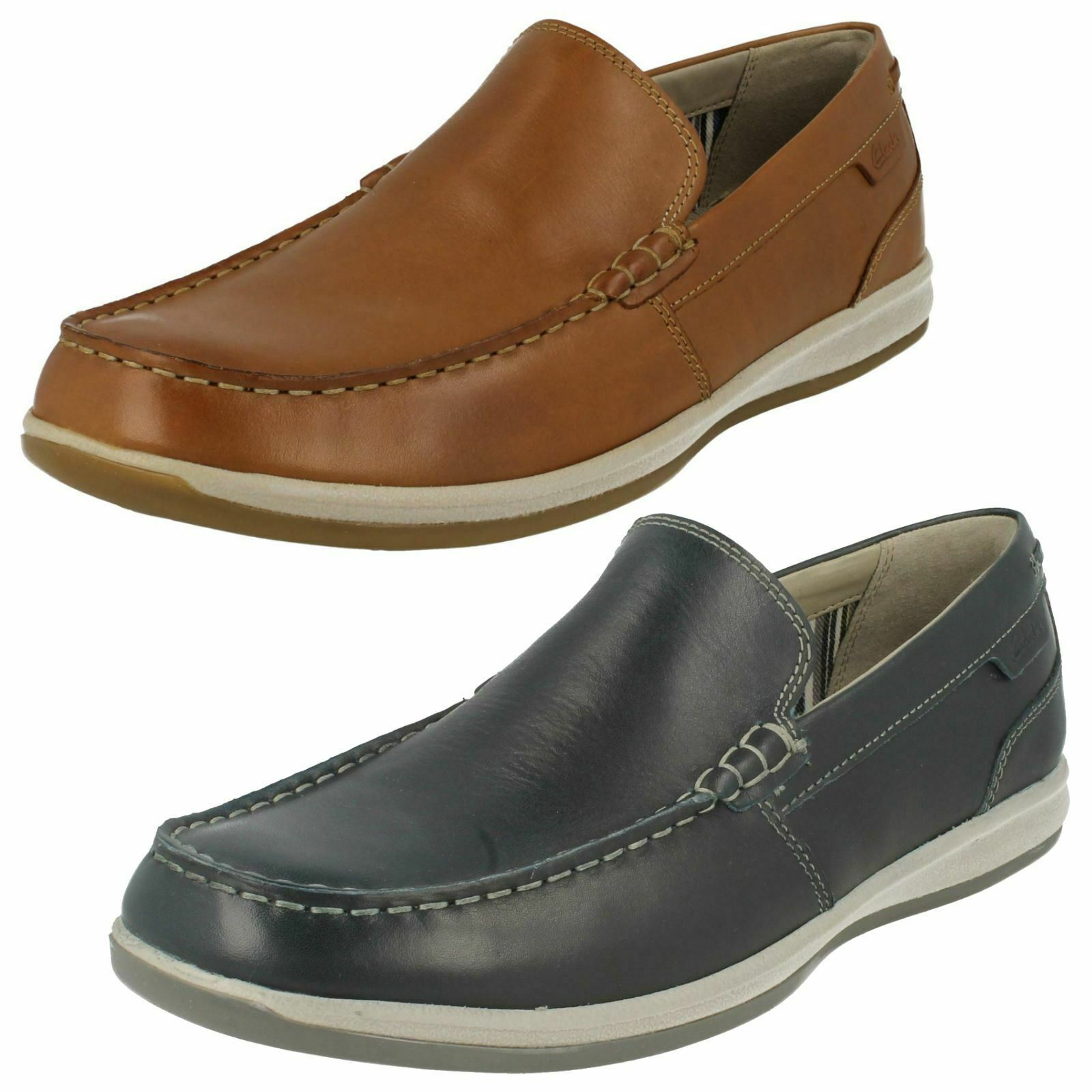 Mens Clarks Moccasin Style schuhe Fallston Step