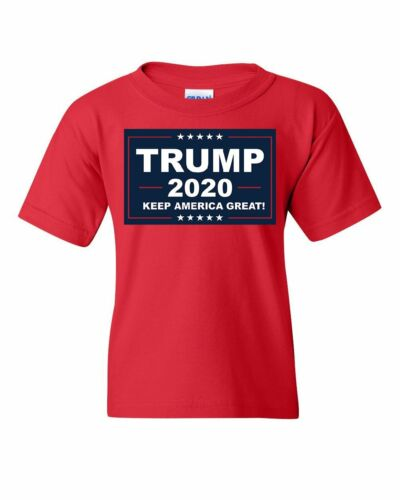 TRUMP 2020 Keep America Great Youth T-Shirt MAGA Republican Political Kids Tee