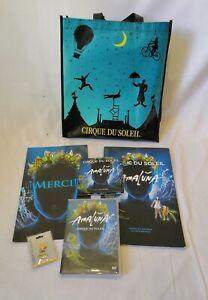 Amaluna Cirque Du Soleil Set Tote Bag DVD Poster Magazines Pin Badge CD Track
