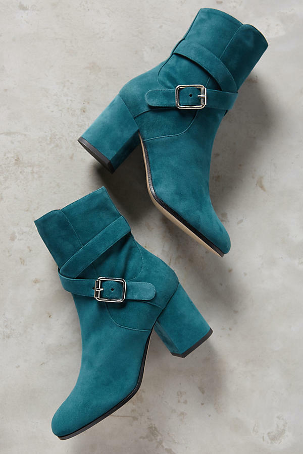 Nwt Anthropologie Deimille Eloise Buckled Ankle Boots Size 37