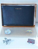 Michael Kors Sticker Bag Xl Zip Clutch /black